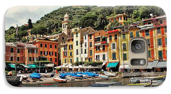 Galaxy Case featuring the photograph Portofino Harbor 2 by Allen Beatty