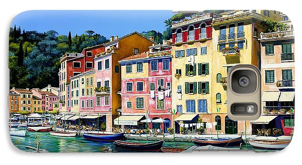 Galaxy Case featuring the painting Portofino Sunshine Sold by Michael Swanson