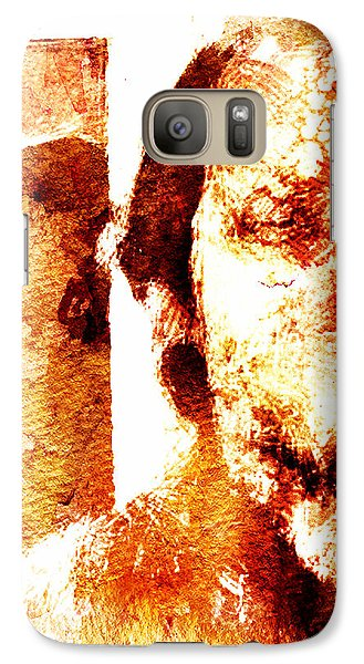 Galaxy Case featuring the digital art Portrait And Mirror by Andrea Barbieri