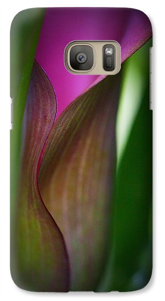 Galaxy Case featuring the photograph Portrait Of A Calla Lily by Zoe Ferrie