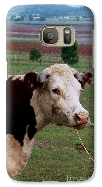 Galaxy Case featuring the photograph Portrait Of A Cow by Therese Alcorn