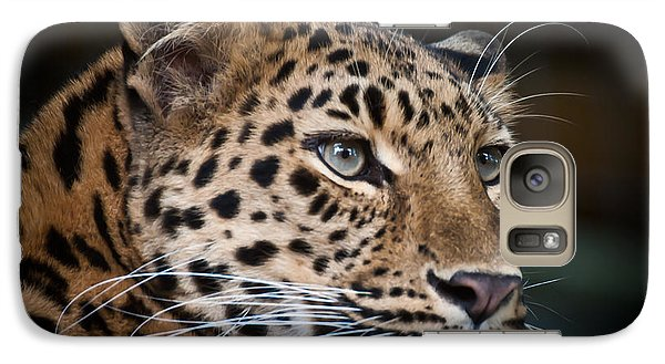 Galaxy Case featuring the photograph Portrait Of A Leopard by Chris Boulton