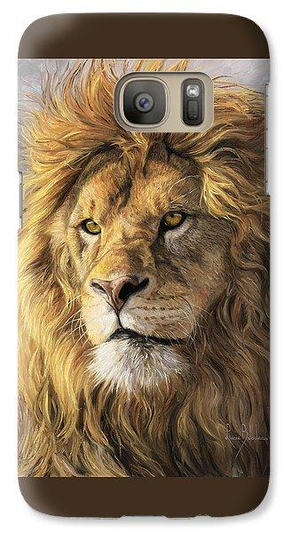 Portrait Of A Lion Galaxy Case by Lucie Bilodeau