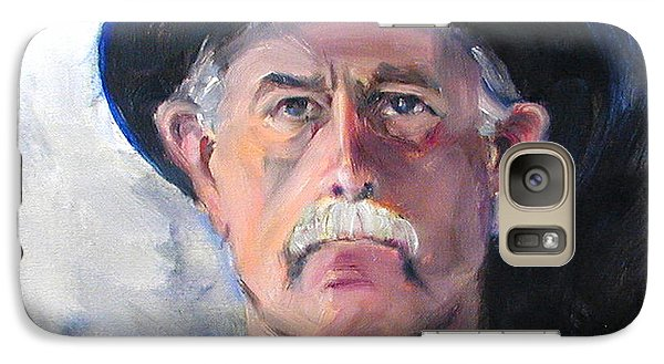 Galaxy Case featuring the painting Portrait Of A Man In Top Hat by Greta Corens