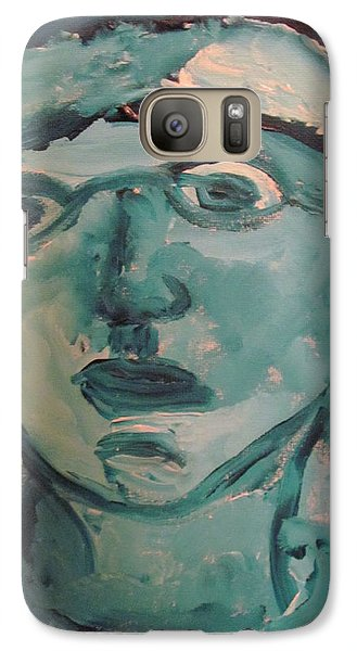 Galaxy Case featuring the painting Portrait Of A Man by Shea Holliman