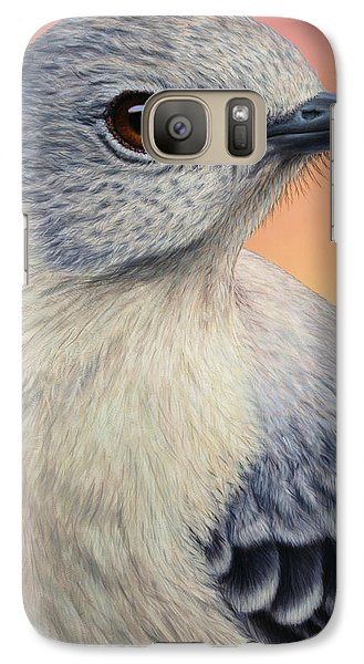 Mockingbird Galaxy S7 Case - Portrait Of A Mockingbird by James W Johnson