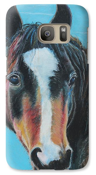 Galaxy Case featuring the painting Portrait Of A Wild Horse by Jeanne Fischer