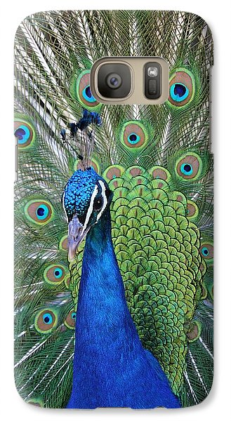 Galaxy Case featuring the photograph Portrait Of A Peacock by Diane Alexander