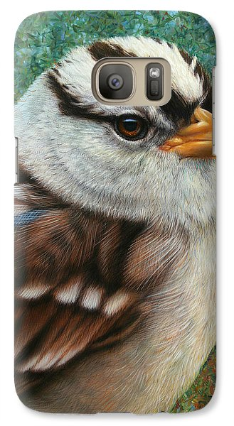 Sparrow Galaxy S7 Case - Portrait Of A Sparrow by James W Johnson