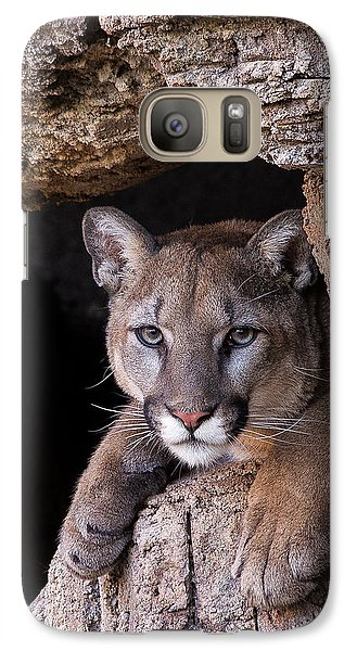 Portrait Of A Watcher Galaxy S7 Case by Beverly Parks