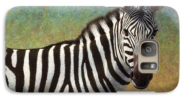 Realistic Galaxy S7 Case - Portrait Of A Zebra by James W Johnson