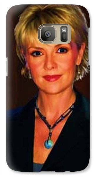 Galaxy Case featuring the digital art Portrait Of Amanda Tapping by P Dwain Morris