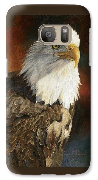 Portrait Of An Eagle Galaxy S7 Case by Lucie Bilodeau