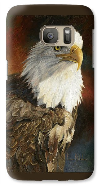 Portrait Of An Eagle Galaxy S7 Case by Lucie Bilodeau
