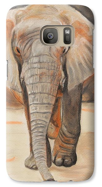 Galaxy Case featuring the painting Portrait Of An Elephant by Jeanne Fischer