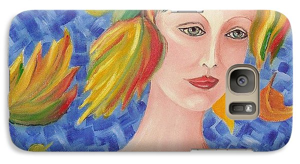 Galaxy Case featuring the painting Portrait Of Autumn by Nina Mitkova