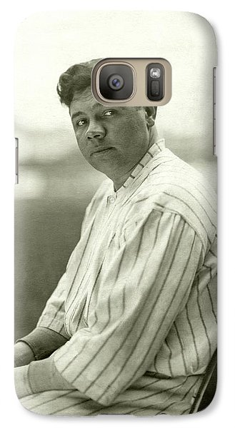Portrait Of Babe Ruth Galaxy Case by Nicholas Muray