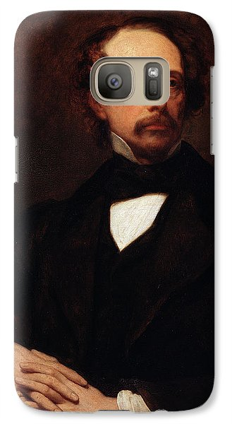 Portrait Of Charles Dickens Galaxy Case by Ary Scheffer