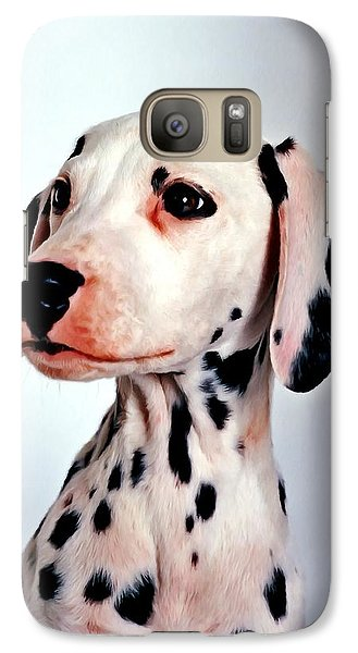 Galaxy Case featuring the painting Portrait Of Dalmatian Dog by Lanjee Chee