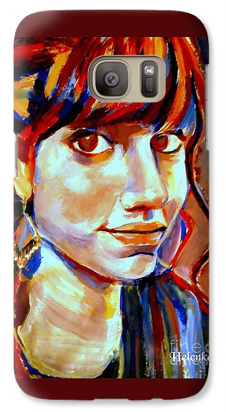 Galaxy Case featuring the painting Portrait Of Ivana by Helena Wierzbicki