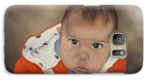 Galaxy Case featuring the painting Portrait Of Joshua by Jean Walker