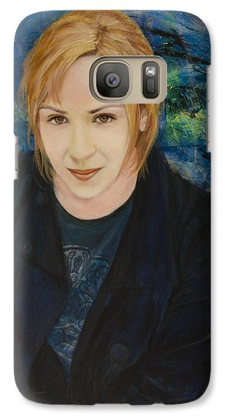 Galaxy Case featuring the painting Portrait Of Katarzyna Magda by Ron Richard Baviello
