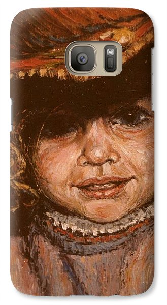 Galaxy Case featuring the painting Portrait Of Leticia by Walter Casaravilla