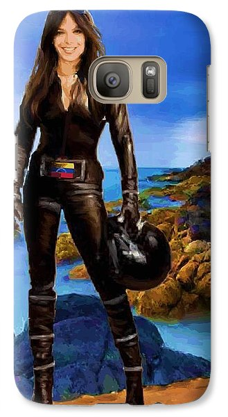 Galaxy Case featuring the digital art Portrait Of Milka Duno by P Dwain Morris