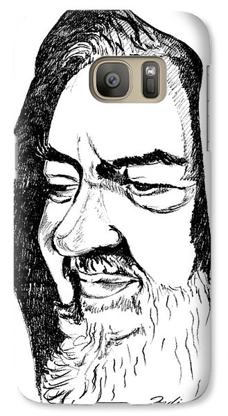 Galaxy Case featuring the drawing Portrait Of Padre Pio by Ze  Di