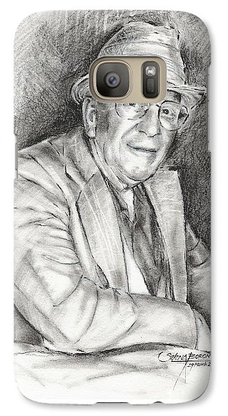 Galaxy Case featuring the drawing Portrait Of Paul England by Selena Boron