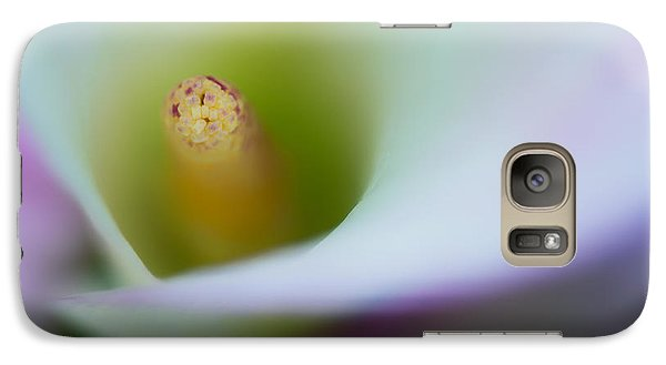 Galaxy Case featuring the photograph Portrait Of The Stamen Of A Calla Lily by Zoe Ferrie