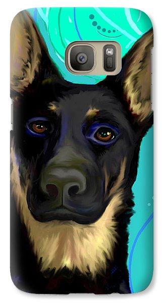 Galaxy Case featuring the digital art Portrait Of A German Shepherd Dog by Karon Melillo DeVega