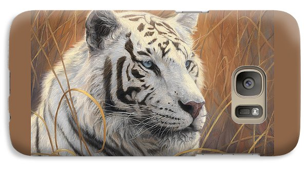 Portrait White Tiger 2 Galaxy S7 Case by Lucie Bilodeau