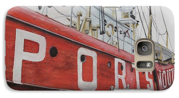 Galaxy Case featuring the painting Portsmouth Lightship by Stan Tenney