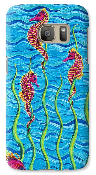 Galaxy Case featuring the painting Poseidon's Steed Painting Bomber by Rebecca Parker