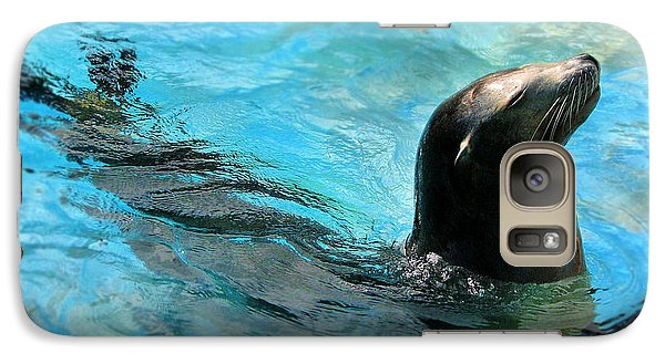 Galaxy Case featuring the photograph Posing Sea Lion by Kristine Merc