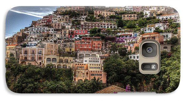 Galaxy Case featuring the photograph Positano by Uri Baruch