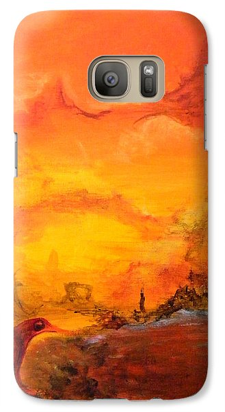 Galaxy Case featuring the painting Post Nuclear Watering Hole by Christophe Ennis