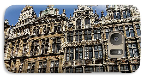 Galaxy Case featuring the photograph Postcard From Brussels - Grand Place Elegant Facades by Georgia Mizuleva