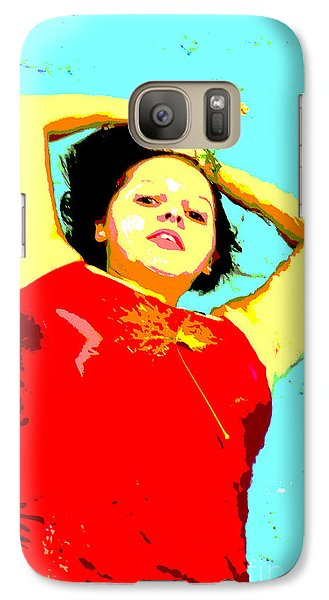 Galaxy Case featuring the photograph Poster Girl 2 by Randi Grace Nilsberg