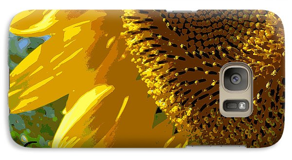 Galaxy Case featuring the photograph Posterized Sunflower by Heidi Manly