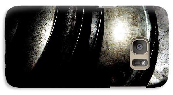 Galaxy Case featuring the photograph Pot Lids by Newel Hunter