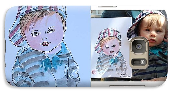 Galaxy Case featuring the painting Potrait Sketch by Ping Yan