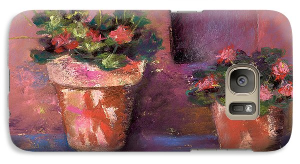 Galaxy Case featuring the pastel Pots N' Plants by Julie Maas