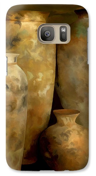 Galaxy Case featuring the painting Pots Of Time by Michael Pickett