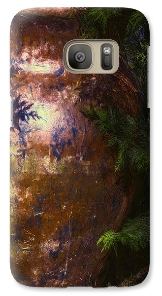 Galaxy Case featuring the photograph Potters Clay by Jean OKeeffe Macro Abundance Art