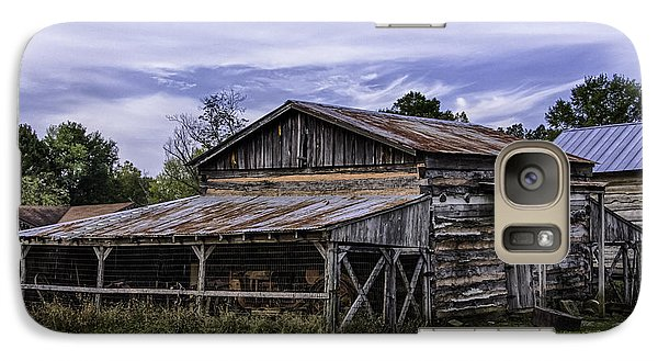 Galaxy Case featuring the photograph Pottsville Arkansas Historic Log Barn by Betty Denise