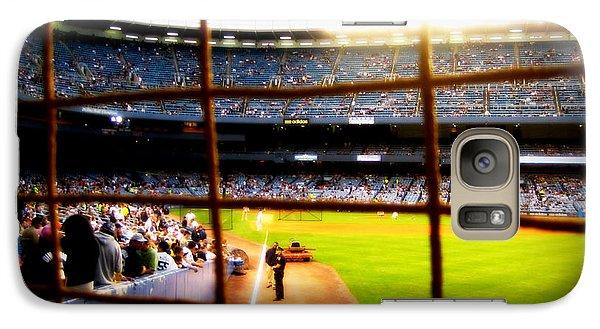 Galaxy Case featuring the photograph Pov Right Field Foul Pole Original Yankee Stadium by Aurelio Zucco
