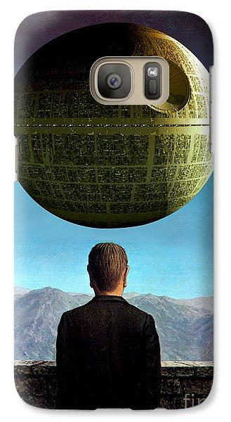 Galaxy Case featuring the digital art POV by Sasha Keen