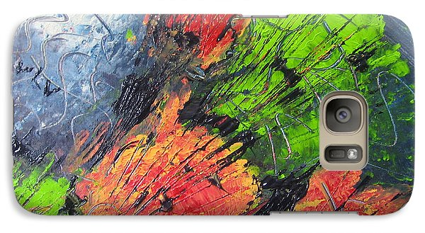 Galaxy Case featuring the painting Powder And Puff by Lucy Matta